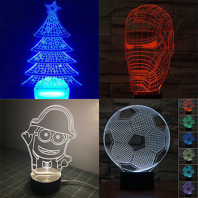 3D illusion table lamp Great Christmas Present xmas Gift