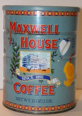 Vintage Maxwell House 80th Anniversary 32 oz. Collector Coffee Tin with lid