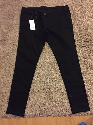 BRAND NEW SIZE 18 NEXT Regular Length BLACK MATERNITY JEANS RRP £24