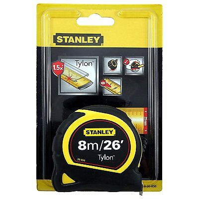 Pocket Tape 8M 26FT 25MM accurate measurements Carded 0-30-656 Stanley 3 rivet