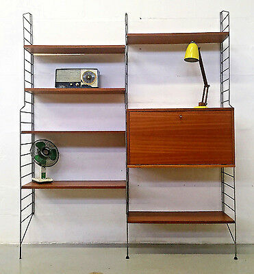 Very Stylish Retro Mid Century String Shelving System/bookcase • £595.00
