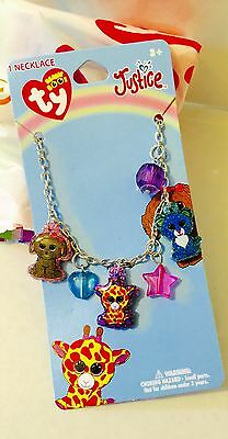 Justice beanie Boo Necklace