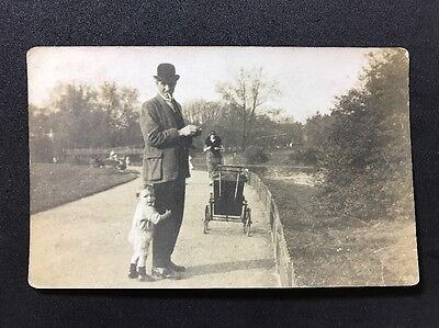 Vintage Postcard - RP Anonymous Group #149 - Man And Child