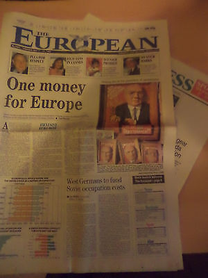Old Vintage Orig 1990S Newspaper The European 11 May 1990 1St Ever Issue