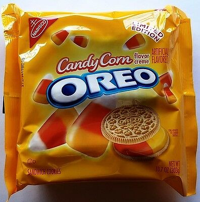 NEW Nabisco Oreo Candy Corn Flavored Creme Cookies FREE WORLDWIDE SHIPPING