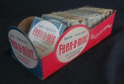 Nos Vintage Feen-A-Mint Laxative Chewing Gum Display Box