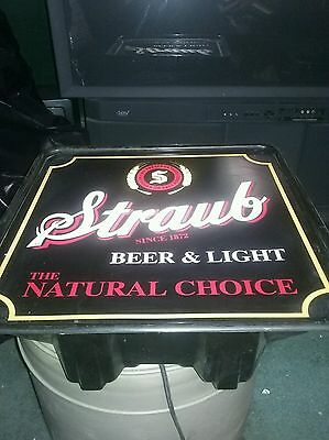 Vintage Lighted Straub Beer Sign.nice condition
