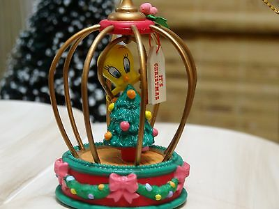 . Looney Tunes Tweety Bird Holiday Bird Cage Christmas Ornament in Box