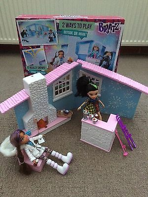 Bratz Snow Kissed Winter Lodge Playset - Fully Complete - Fab!