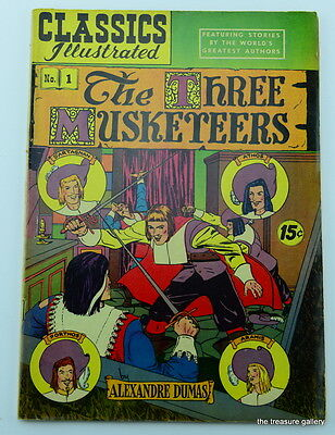 Classics Illustrated THE THREE MUSKETEERS  #1   HRN 114