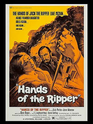 """Hands of the Ripper 16"""" x 12"""" Repro Movie Poster Photograph"""