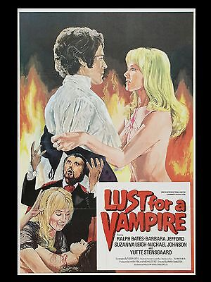 """Lust for a Vampire 16"""" x 12"""" Repro Movie Poster Photograph"""