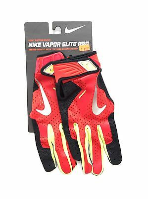 Nike Vapor Elite Pro Sheepskin Batting Glove, Red Black, M Adult, GB0372 670
