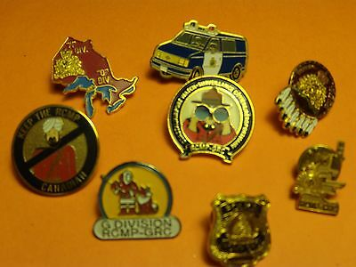Canada lot of 8 different RCMP Police lapel pins