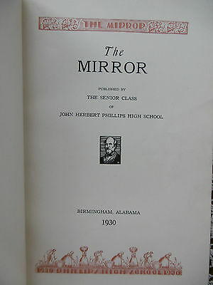 1930 Yearbook John Herbert Phillips High School Birmingham Alabama +News Item ++