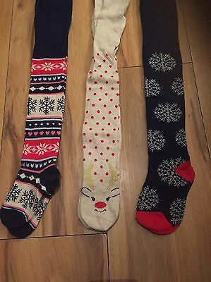 Girls Christmas Tights Age 3-4 *NEW*
