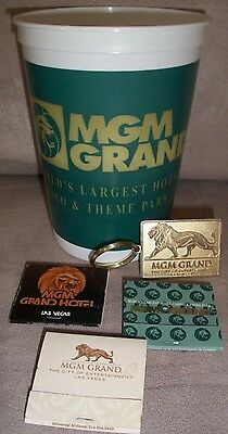 MGM Grand  Hotel & Casino - Las Vegas coin cup & matches & key chain