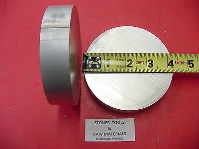 """2 Pieces 4-1/4"""" OD ALUMINUM 6061 ROUND ROD 1.5"""" LONG SOLID T6511 Lathe Bar Stock"""