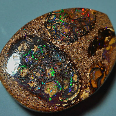 Opale Boulder d'Australie 22.5ct VIDEO Australian opal Veins colour pattern