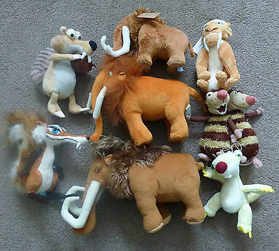 A Set Of Plush Toy Brand New From Ice Age The Film
