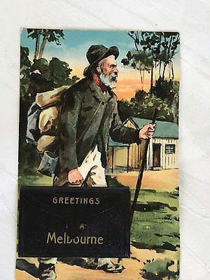 Vintage Postcard - Greetings From Melbourne - Possibly Early 1900's