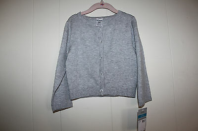 Toddler Girls 24 months Carter's gray button up cardigan sweater NWT
