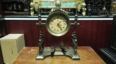 old brass make have two pigeon machinery Clock