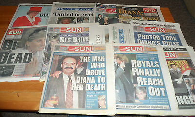 12 Newspaper 1997 Of Princess Diana Of Wales Di Death Toronto Sun Star Aftermath