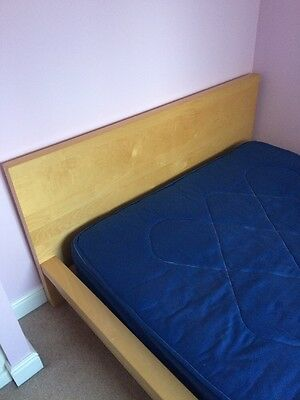 Double bed frame and mattress (IKEA)
