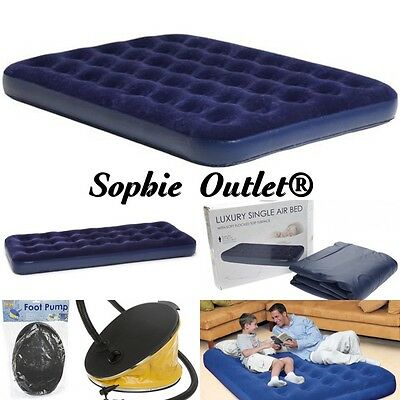 Lit À Air Gonflable Matelas Afflué Camping Invité Relaxant Simple Double &