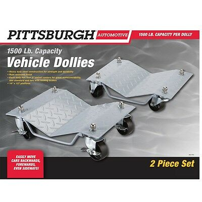 Pittsburgh Automotive 1500 lb. Capacity Vehicle Dollies 2 Pc