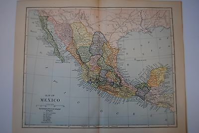 antique map mexico 19th c