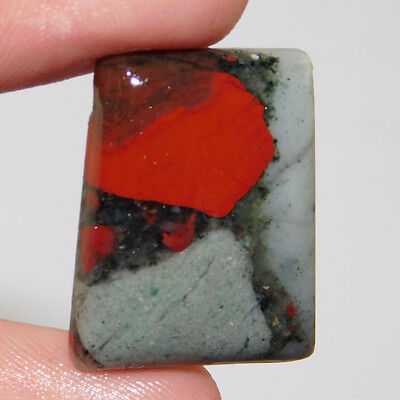 26Cts Aaa Quality  23X17 Mm New Blood Stone Cushion Loose Gemstone Free Shipping