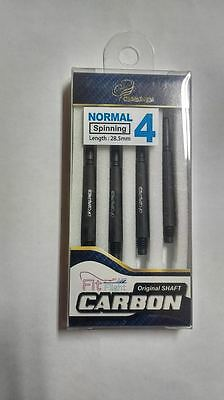 BLACK COSMO FIT CARBON NORMAL SPINNING #4 SHAFTS (4 pack) 28.5mm