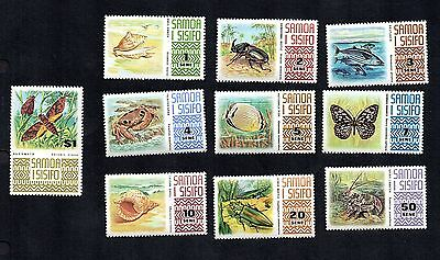 Samoa 1972 Insect Butterfly Fish Moth Beetle Shell Crab Lobster MNH #369-378