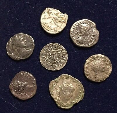 Large Lot (7 Coins) UK Found Coins - British & UK-Roman Coins! Rare Center Coin!