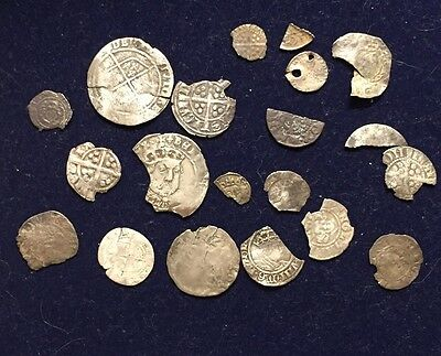 Large Collection (20 Coins) - With HENRY VIII - British UK Silver Hammered Coins