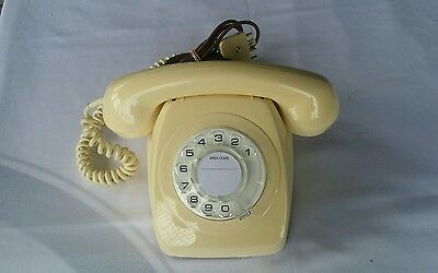 Antique Retro Vintage Rotary Ivory Dial Telephone Awa 802 ****like New****