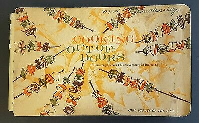 Cooking Out Of Doors Girl Scouts 1960 Cookbook