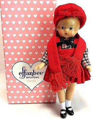 """Effanbee Vintage 1970's Wee Patsy #V570  Red Coat Girl 5"""" Miniature Doll MIB"""