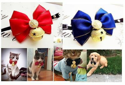 Soft Collar Bell Bow tie Bell Pet Dog Puppy Cat Kitten Cute Bell Free delivery