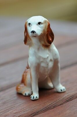 Vintage China Tan and White Cocker Spaniel