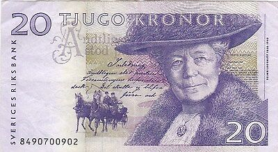 1997 Issue 20 Kronor Sweden P63c