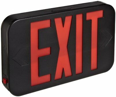 Morris Products 73013 LED Exit Sign, Standard Type, Red LED Color, Black Housing