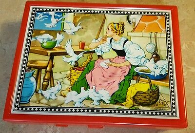 West German Neusters 6 sided wood block Fairy Tales picture puzzle
