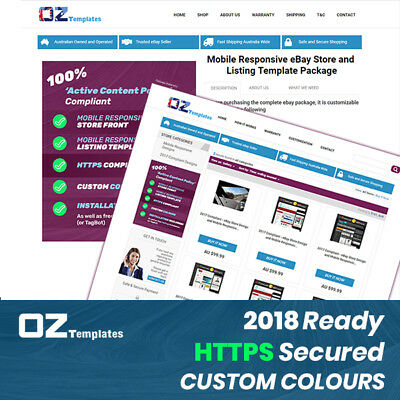 2017 Compliant - eBay Store Design and Mobile Responsive Listing Template
