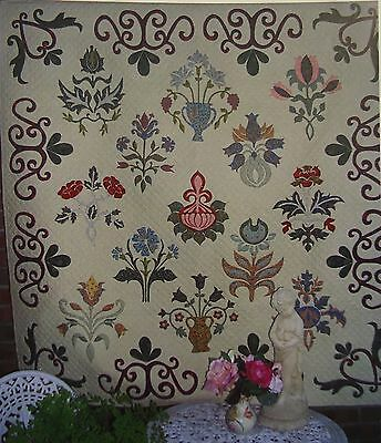 WILLIAM MORRIS FLORAL SAMPLER - applique quilt pattern - Michele Hill