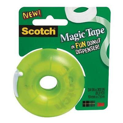 Scotch Magic Tape Donut Dispenser, 3/4 x 300 Inches (155) New