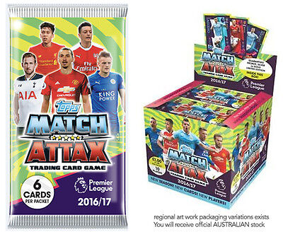 50 Booster Packs 2016/2017 16/17 Premier League Match Attax Soccer Card Full Box
