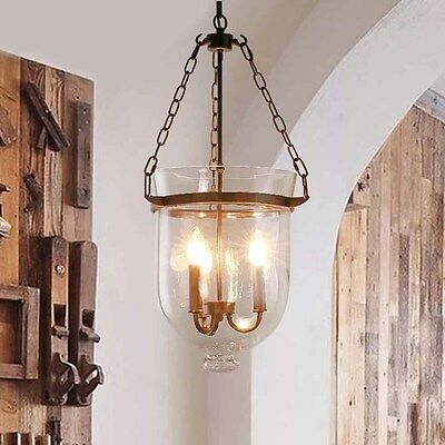 Modern Porch Vintage Industrial Ceiling Lamp Candle Hanging Down Pendant Light